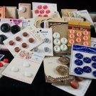 Mixed Vintage Sewing Buttons 40 Plus Cards Many Different Sizes Styles