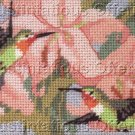 Rossi Needlepoint Hummingbirds on Lilies With Frame Kit