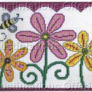 Bumblebee Counted Cross Stitch Polka Dot Daisy Trio Kit
