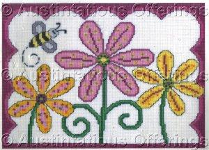 Bumblebee Counted Cross Stitch Polka Dot Daisy Trio Kit