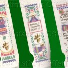 Set of Three Inspirational Angel Cross Stitch Kits Keepsake Bookmarks