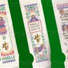 Set of Three Inspirational Angel Cross Stitch Kits Keepsake Bookmarks