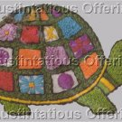 Rare Klivans Jiffy Crewel  Embroider Kit Playful Turtle Retro Hippy Patchwork Shell