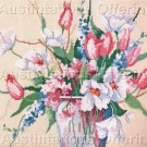 Rare Barbara Mock Mixed Tulip Bouquet Cross Stitch Kit Abundant Summer  Flower Vase