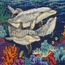Rare Sherry Vintson Sea Life Cross Stitch Kit Colorful Ocean Reef Dolphins Nautical Beauty