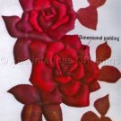Classic Red Roses Trapunto Stitchery Kit Quilted Crewel Embroidery