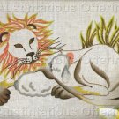 Rare King Peaceable Kingdom Crewel Embroidery Kit Lion Sleeping Lamb Williams