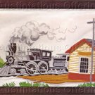 Vintage Steam Train Depot Crewel Embroidery Kit