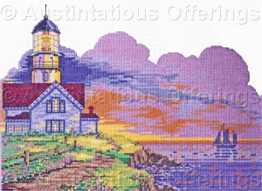 Rare Taneyhill Sunset Lighthouse Cross Stitch Kit Suitable for Beginner Twilight Path