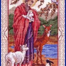Rare Marie Barber Inspirational Cross Stitch Kit St Francis and the Animals