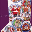 Rare Gillum Christmas Domes Right Left Toe Cross Stitch Stocking Kit Snow Globes