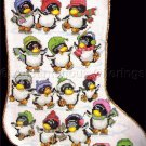 Ice Dancing Penguins Cross Stitch Stocking Kit Christmas Skaters Suitable for Beginners