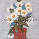 Vintage Crewel Embroidery Daisy plant Kit