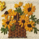 Jiffy Crewel Embroidery Daisy Basket Kit