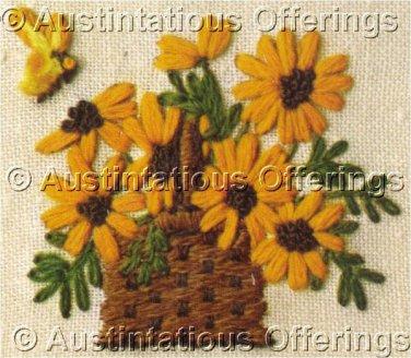 Jiffy Crewel Embroidery Daisy Basket Kit