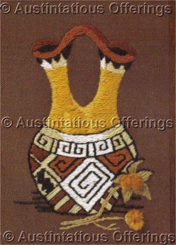 Rare gerrish indian wedding vase crewel embroidery kit jiffy