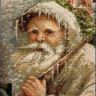 Rare Old Man Frost Evenweave Cross Stitch Kit Winter Christmas