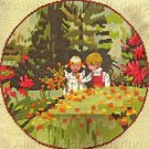 Rare  Rienstra Childhood Picnic Needlepoint Kit Forest Meadow
