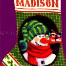Laurie Cook Snowman  Carrot Nose Needlepoint Stocking Kit Christmas Mice