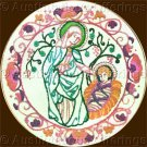 Inspirational Mother Child Nativity Crewel Embroidery Kit Holy Mother Christ Child