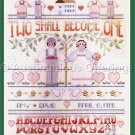 Rare Gillum FolkArt Pastel Wedding Sampler Cross Stitch Kit Love Everlasting