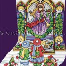 Elliott Herald Angel Stained Glass Window CrossStitch Stocking Kit Christmas Village