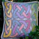 Elegant Barrani Pastel Celtic Knot Needlepoint Pillow Kit