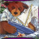 Rare Susan Rios Artwork Reproduction Teddy Bear Needlepoint Pillow Kit Theodore