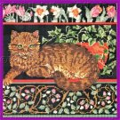 Rare American Greetings Timid Tabby Cat Needlepoint Kit Springtime Repose