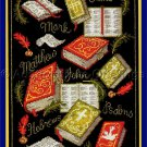 Rare Lorilynn Simms Inspirational Artwork Repro Cross Stitch Kit Books of the Bible