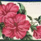 PREASSEMBLED HIBISCUS FLORAL NEEDLEPOINT COSMETIC PURSE PHONE CASE