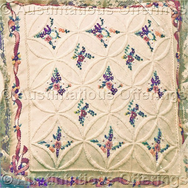 Spring floral candlewicking crewel embroidery kit window