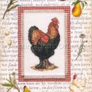 Vibrant Handsome Rooster Cross Stitch Kit Decorative Mat Charm Nature Collection