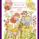 Cathy Heck Garden Fairies Counted Cross Stitch Kit CathyLoo Birth Record