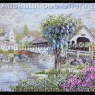 Nicky Boehme Artwork Reproduction Covered Bridge Cross Stitch Kit Sleepy Village