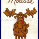 Rare Dale Burdett Moose Lover Cross Stitch Kit Chocolate Mousse