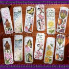 Inspirational Verses and Nature Book Mark Set Cross Stitch Kit Twelve Designs
