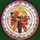 Rare Blankenship Autumn Harvest Swag Cross Stitch Kit Fall Leaves Indian Corn