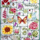 Krista Hamrick's Floral ABC Sampler Cross Stitch Kit My Garden