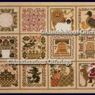 Rare Prairie Schooler Folk Art Months Sampler Cross Stitch Kit Prairie Year II
