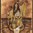 Rare Native Spirits Cross Stitch Kit Native American Indian Man Buffalo Prayers