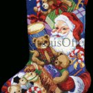 Rare Brackenbury Artwork Santa Claus and Toys Needlepoint Christmas Stocking Kit