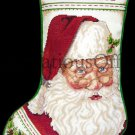 Rare Patti Gay Santa Claus Portrait Cross Stitch Stocking Kit