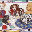 Playful Puppies Cross Stitch Kit Dalmatian Dog, Terrior, Spaniel and More