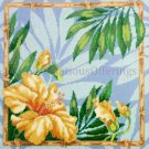 RARE TROPICAL BLOOMS NEEDLEPOINT PILLOW KIT HIBISCUS FLOWER BARBARA BAATZ