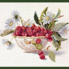 Rare Cherry and Daisies Fruit Bowl Cross Stitch Kit Life is a Bowl of Cherries