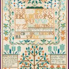 Smithsonian Reproduction Esther Copp Heirloom Sampler Cross Stitch Kit