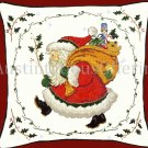 Rare Bev Johnston Woodland Santa Christmas Cross Stitch Pillow Kit