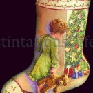 Diana Thomas Stocking Repro Early Christmas Morning Counted Cross Stitch