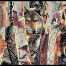 Rare Bogle Wildlife Artwork Repro Cross Stitch Kit Wolf Guardians of the Birchwood Forest